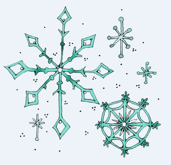Clip Art: Snowflake Winter Frost by HeatherSArtwork