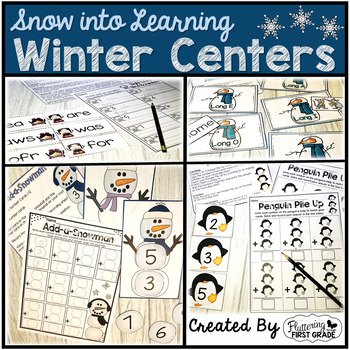 Winter Centers for Math and Literacy ~ Snow into Learning