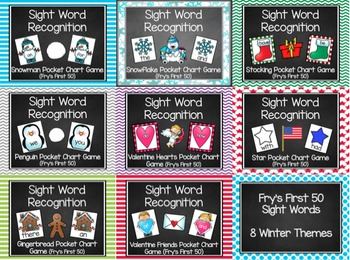 Winter Fry's First 50 Sight Word Game (8 Themes)