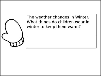 Writing Winter Sentences