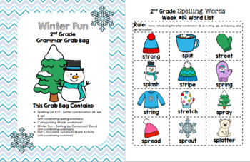 Winter Fun 2nd Grade Grammar Grab Bag #19