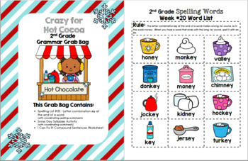 Winter Fun 2nd Grade Grammar Grab Bag #20