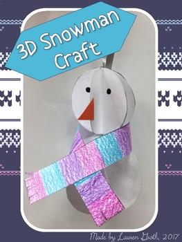 Winter Fun: 3D Snowman Craft & Sequencing Activity