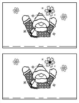 Winter Fun: A Little Reader and a Little Writer