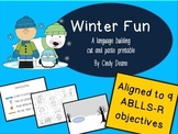 Winter Fun: A language building cut and paste printable