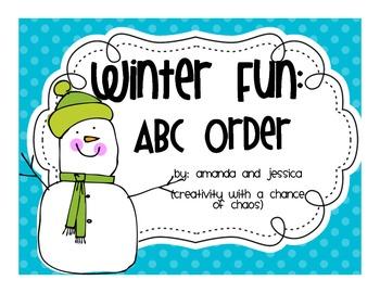 ABC Order: Winter Fun
