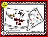 Winter Fun - Adapted 'I Spy' Easy Interactive Reader - 8 pages
