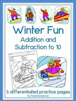 Winter Fun Addition and Subtraction to 10