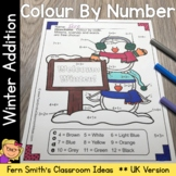 Winter Colour By Number Addition Facts UK Version