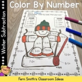Color By Numbers Winter Math Subtraction Facts