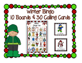 Winter Fun Bingo Game 5x5 Boards 10 Unique Boards & Calling Cards