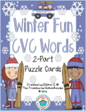 CVC Word Puzzle Cards for Winter
