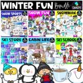 Winter Fun Clip Art Bundle {Educlips Clipart}