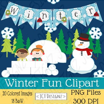 Winter Fun ClipArt: Winter clip art: Great for January Items!