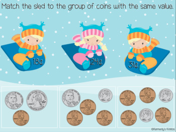 Winter Fun: Coins (Great for Google Classroom!)
