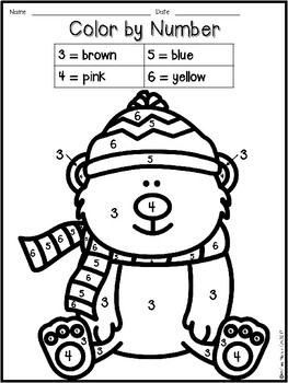 Winter Fun - Color by Number 1 - 10