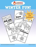 Winter Fun Color-in Joke Bookmarks