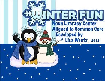 Winter Fun Common Core-Aligned Noun Center for First Grade