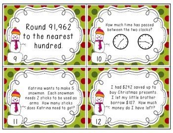 Winter Fun! {Common Core Math Scoot}