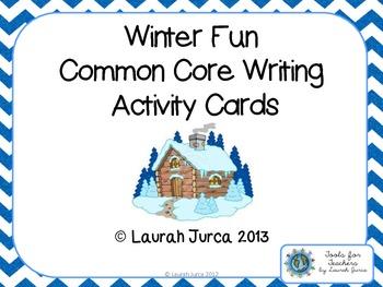 Winter Fun Common Core Writing Activity Cards