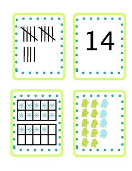 Winter Fun Concentration (1-20):  A Memory Game for K-1