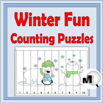 Winter Theme Counting Puzzles - Numbers 1-120 - Winter Activity
