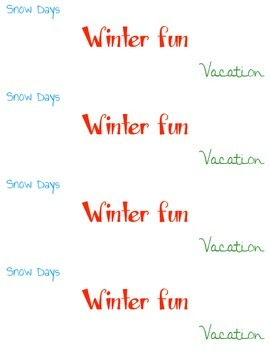 Winter Fun Coupon Book