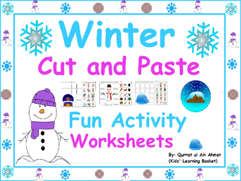 Winter Fun Cut and Paste Activity Worksheets: