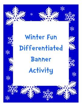 Winter Fun Differentiated Measurement Banner Activity