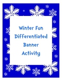 Winter Fun Differentiated Measurement Banner Activity