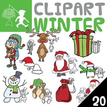 Winter Fun - Digital ClipArt