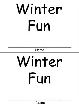 Winter Fun Emergent Reader for Kindergarten