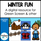 Winter Fun FREEBIE: Green Screen Activity, Interactive PDF, General Reinforcer
