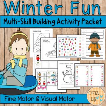Winter Fun Fine Motor and Visual Motor Skills Packet