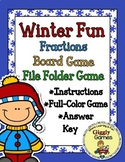 Winter Fun Fractions Board Game