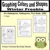 Graphing Colors and Shapes Winter Freebie