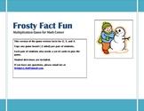 Winter Fun- Frosty Fun Multiplication Practice