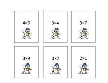 Winter Fun- Frosty Fun Multiplication Practice