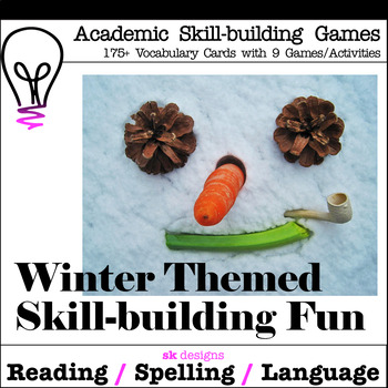 Winter Fun Games Activities to Build Skills with 175+ Vocabulary Flash Cards