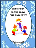 Winter, Cut and Paste, Fine Motor, Kindergarten, Special Education, Autism