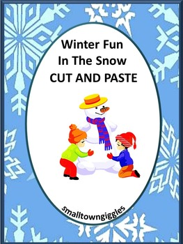 Winter Math Centers, Winter Literacy Centers, Cut and Paste, Special Education