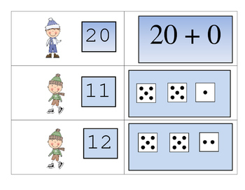 Winter Fun In The Snow Eight Games for Teaching Teen Numbers