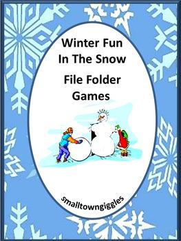 Winter File Folder Games Math and Literacy Center Kindergarten Special Education