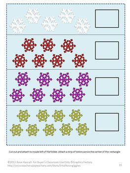 Winter File Folder Games,Winter Math Centers,Winter Literacy,Special Education
