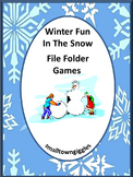 Kindergarten Winter Math Centers or Stations File Folder G