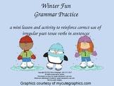 Winter Fun Irregular Verbs Interactive PowerPoint Activity
