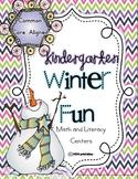 Winter Fun Kindergarten Centers (Common Core Aligned)