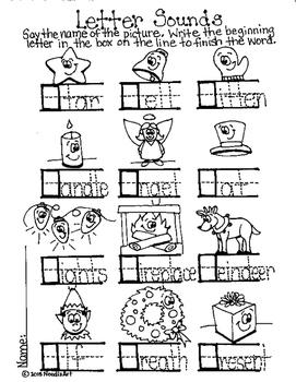 Winter Fun Launguage Arts Worksheets