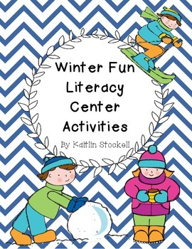 Kindergarten Winter Fun Literacy Center Activities!