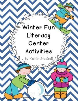 Kindergarten Winter Fun Literacy Center Activities!